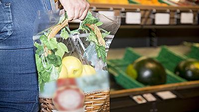 Sachets en plastique pour fruits et légumes